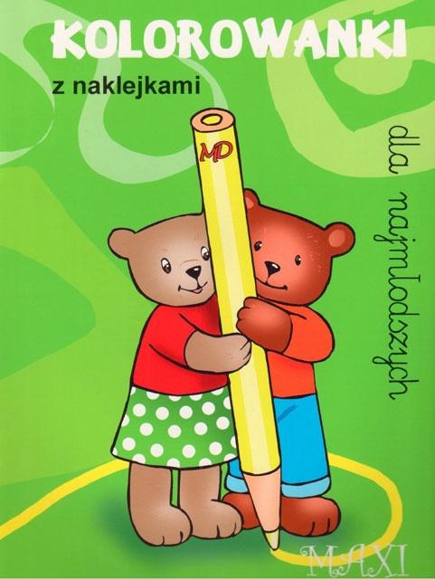 Kolorowanki dla najmłodszych z naklejkami - MAXI 2