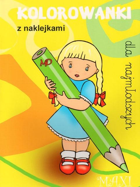 Kolorowanki dla najmłodszych z naklejkami - MAXI 3