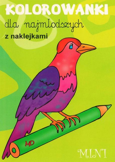 Kolorowanki dla najmłodszych z naklejkami - MINI 5