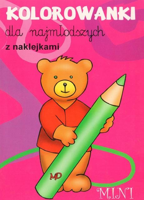 Kolorowanki dla najmłodszych z naklejkami - MINI 6