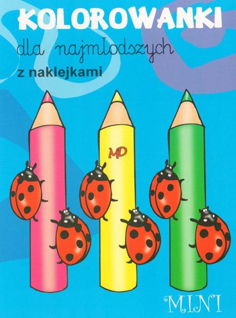 Kolorowanki dla najmłodszych z naklejkami - MINI 7