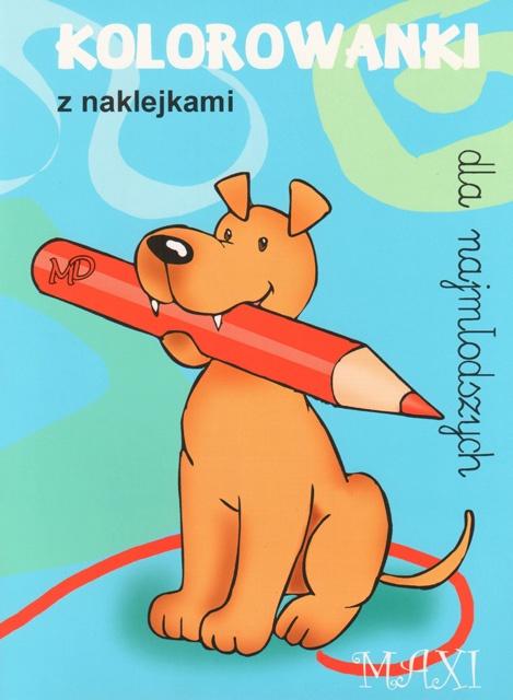 Kolorowanki dla najmłodszych z naklejkami - MAXI 6