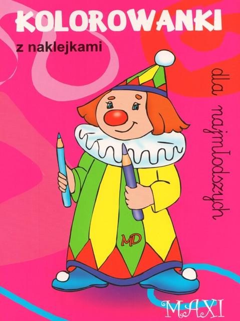 Kolorowanki dla najmłodszych z naklejkami - MAXI 7