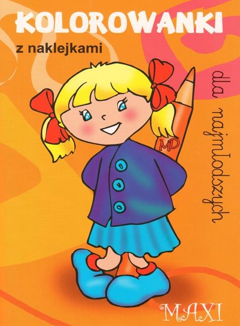 Kolorowanki dla najmłodszych z naklejkami - MAXI 8