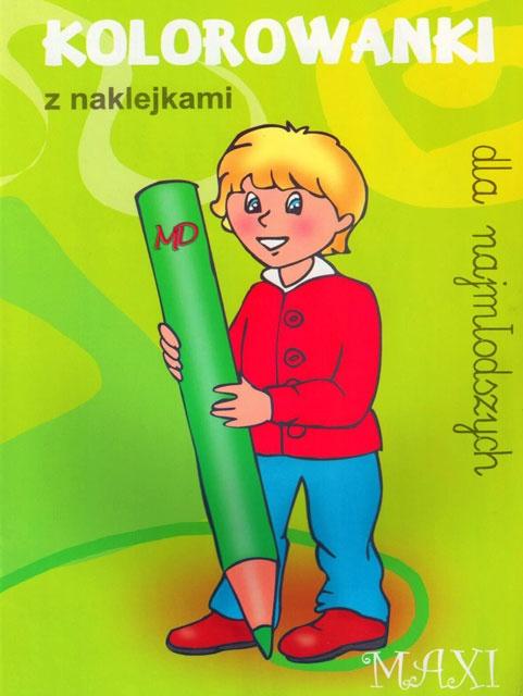 Kolorowanki dla najmłodszych z naklejkami - MAXI 1